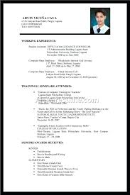 Resume Format No Experience Resume First Resume Template No Experience 15