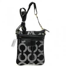Coach Legacy Swingpack In Signature Small Grey Crossbody Bags AVI