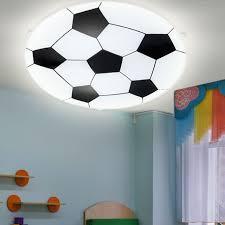 led children ceiling light glass football lamp boys playroom wall lamp satin new