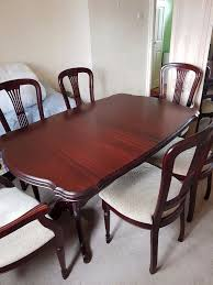 mahogany extending dining table 6 chairs