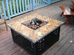 propane fire table popular amazing of outdoor pit throughout blue rhino inspirations diy
