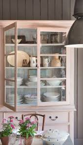 Country Cottage Kitchen Cabinets Lovely Soft Pink Painted Cupboard So Pretty For A Country