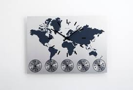 karlsson wall clock world time stainless steel world map wall clock 6 time zone