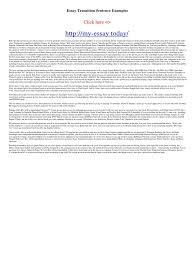 essay transition sentence examples
