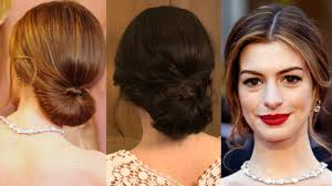 Sock Bun Hair Style how to get anne hathaways oscars redcarpet low bun hairstyle 6435 by wearticles.com