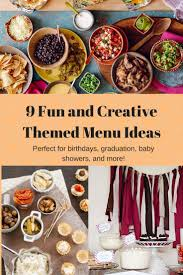 9 Creative Themed Menu Ideas for Parties