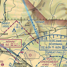 Great Falls Sectional Chart Bozeman Yellowstone International Airport Kbzn Bzn