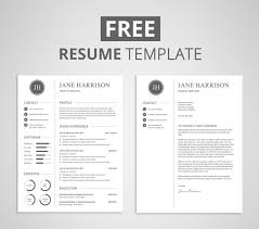 Cover Letter And Resume Templates Free Resume Template And Cover Letter On Behance 1