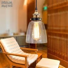 Us 3299 Vintage Industrie Edison Birne Kronleuchter Licht Schmiedeeisen Körper Glas Lampenschirm Art Deco Rustikalen Kaffee Bar Hängen Lampe In