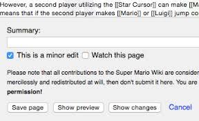 Edit Wiki Help Editing Super Mario Wiki The Mario Encyclopedia