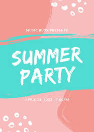 Summer Party Flyers Customize 219 Party Flyer Templates Online Canva