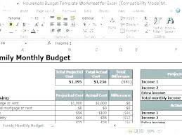 Calculate Monthly Expenses Spreadsheet Simple Budget