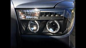 Spyder headlights on a 2008 Toyota Tundra Crewmax - YouTube