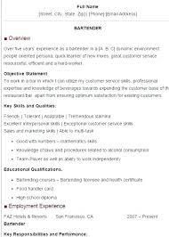 Bartender Resume Skills Stunning 6016 Resume Outline Sample Bar Tender Resume Bartender Resume Samples