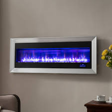 prokonian 63 wall mounted electric fireplace with space heater spb15029a pewter com