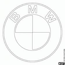 Bmw Logo German Car Brand Coloring Page Character Colouring Pages