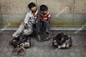Frayer Boy Shoeshine Boys Wait Customers On Sidewalk New Editorial