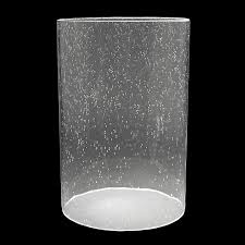 5930 clear seeded glass cylinder 5 1 8 x 7 3 4