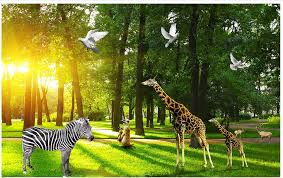 Us 13 1 50 Off 3d Photo Wallpaper Custom 3d Murals Wallpaper Mural Animals Wall The Wizard Of Oz Forest Background Of The Animal Kingdom Wall In