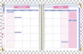 Paper 0 Bloom Daily Planners August 2018 Feather Calendar Png