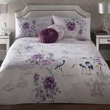appletree iko fl 100 cotton duvet cover set plum purple