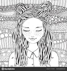 Sevimli Kız çizilmiş Stok Vektör Imhopeyandexru 161746246