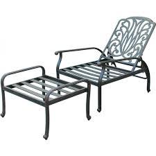 Darlee Elisabeth Cast Aluminum Patio Reclining Club Chair And