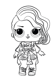 Check the coolest set of printable lol surprise coloring pages for girls presenting unboxed dolls. Lol Doll Coloring Pages Coloring Rocks