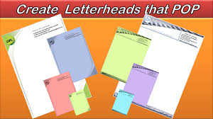 Make Letterheads Online Create Letterheads That Sparkle And Pop Microsoft Word 2010 2013