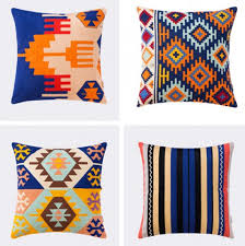 colorful throw pillows. Plain Colorful Colorful Geometric Throw Pillows For Brown Leather Couch Embroidered  Cushions Intended Throw Pillows L