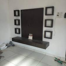 Wood Work Designs For Hall Six Square Box Lcdunit Lcd Panels Tv Unit Desgin Karan