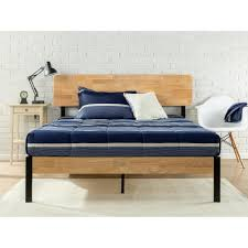 wood and metal platform bed.  Wood This Review Is FromTuscan Metal And Wood Black Queen Platform Bed On And U