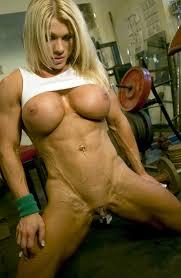 Muscular girl big boob