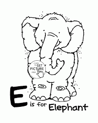 Letter E Alphabet Coloring Pages For