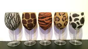 animal print glass