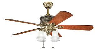 kichler kl 300161bab 52 inch corinth 52 inch ceiling fan burnished antique brass