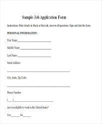 Sample Generic Application For Employment Stunning 48 Job Application Form Templates Free Premium Templates