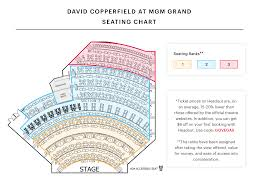 Hollywood Theater Las Vegas Seating Chart David Copperfield Seating Chart Get The Best Seats At The