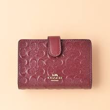 coach medium corner zip wallet