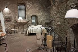 Medieval Bedroom View Of A Bedroom Medieval Perugia Italy Stock Photo Picture