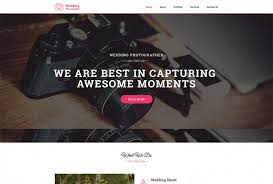 Wedding Photography Html Website Template Template Bundle