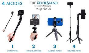 Lifestyle Designs Selfie Stick Premium Hd Rugged 4 In 1 Selfie Stick Tripod Stand Kit