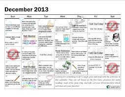 December Activity Calendar | Laughplayread