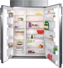 sub zero side by side refrigerator. Brilliant Side SubZero BI48SO  Interior View With Sub Zero Side By Refrigerator