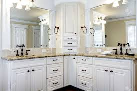 Bathroom White Cabinets Luxury Large White Master Bathroom Cabinets With Double Sinks