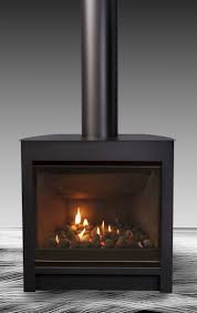 lovely freestanding gas fireplace