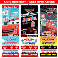 cars lightning mcqueen birthday party invitations by icelebration 128270zoom