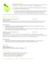 Nursery School Teacher Resume Sample Elementary Teaching Resume