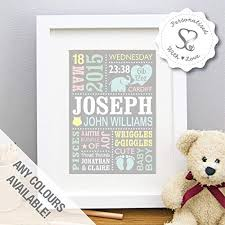 personalised cute baby elephant new baby gift birth dels christening boy