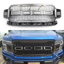 Raptor Style Led Grill With Ford Letters Grille For F 150 2018 Gray Ford F150 F150 Ford Trucks